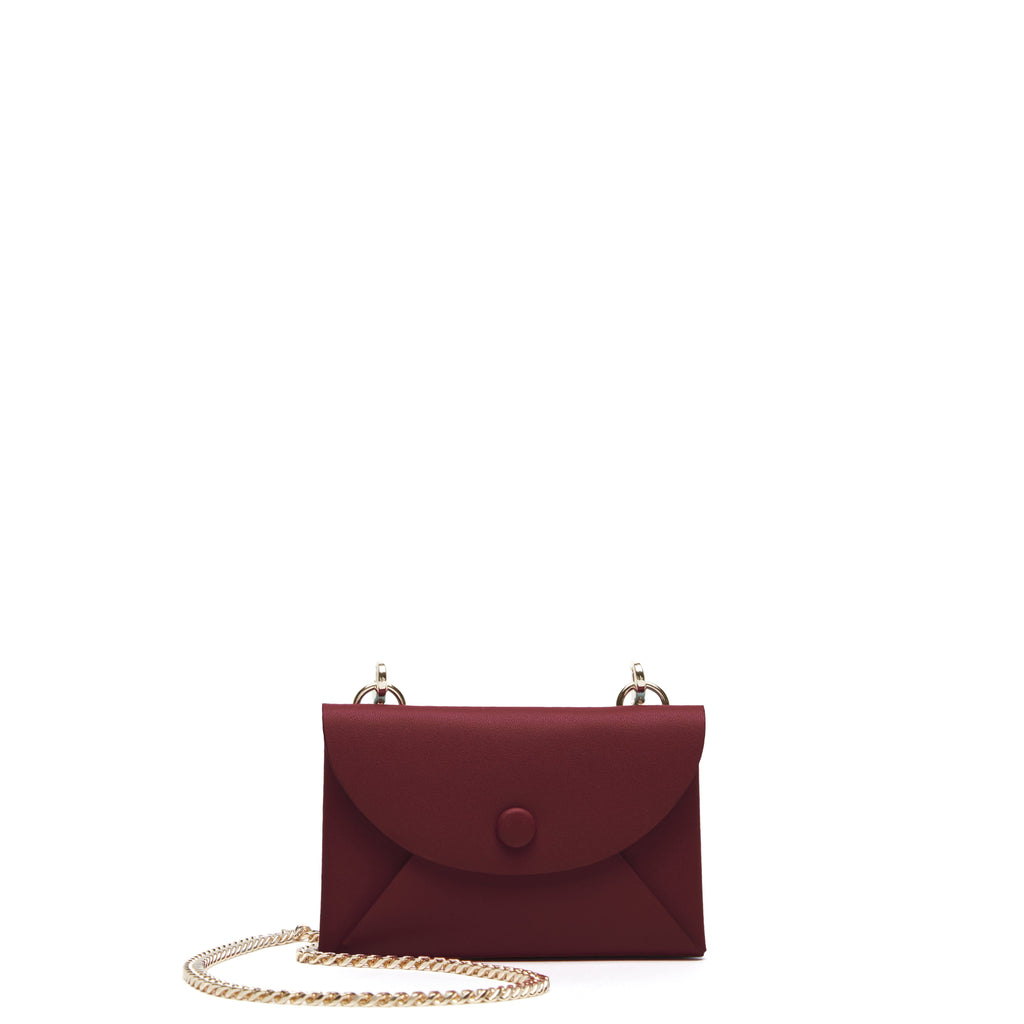 Assembly Chain Cardlet - Soft White + Bordeaux - OAD NEW YORK