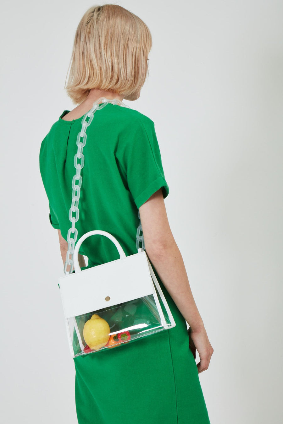 Clear Harper Tote - Bright White - OAD NEW YORK