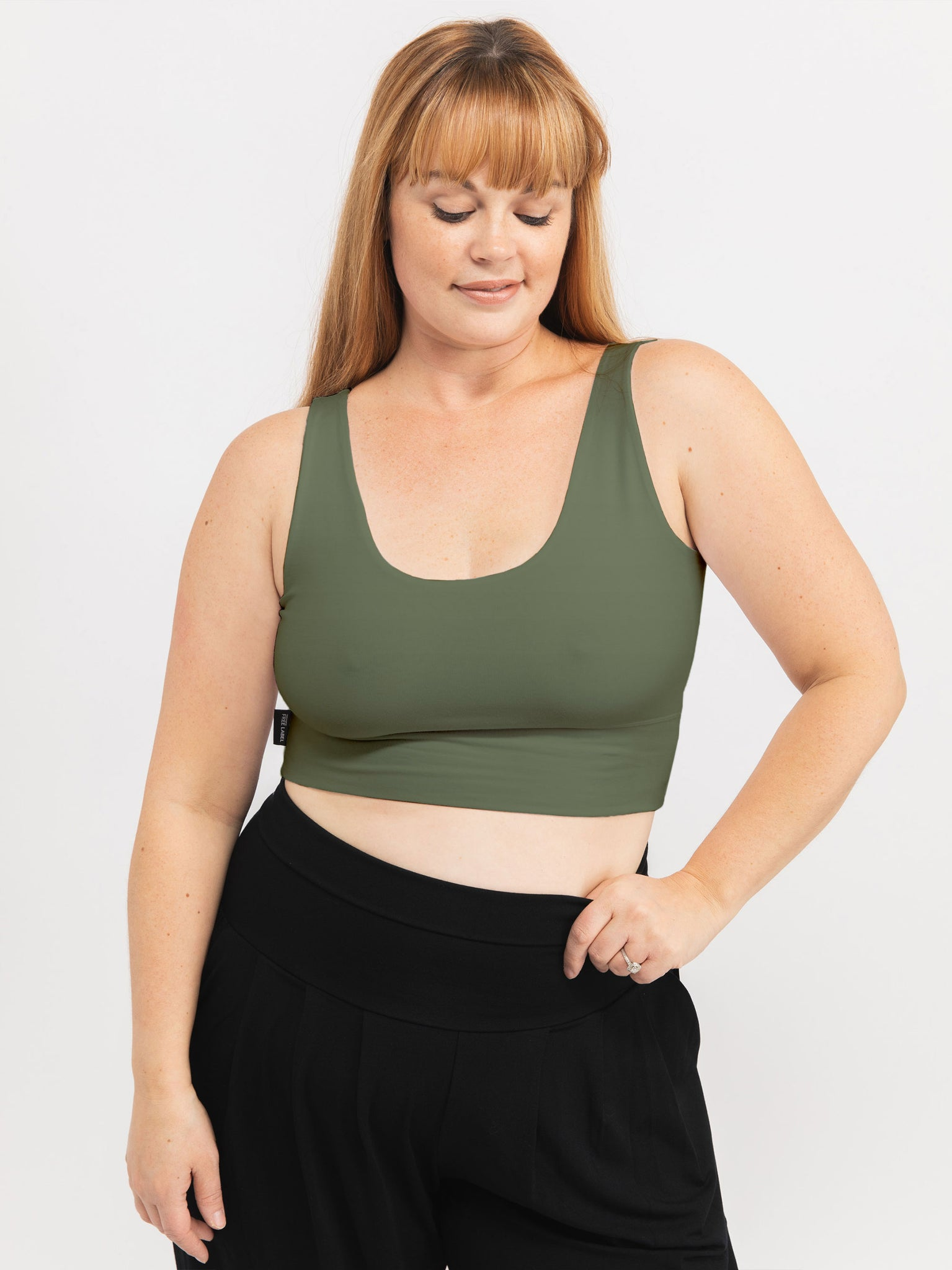 ARMY GREEN THOMPSON REVERSIBLE BRA