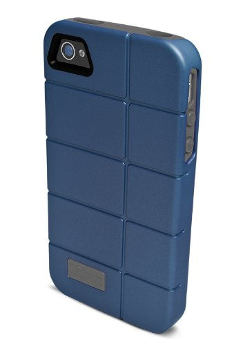 iFrogz Cocoon Case for Apple iPhone 4/4S - 1 Pack - Retail Packaging - Navy/Gray