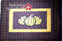 FALL/THANKSGIVING PLACE MAT  In The Hoop - INSTANT DOWNLOAD - Embroidery by EdytheAnne - 2