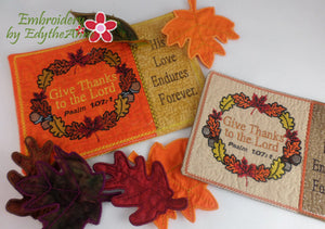 THANKSGIVING IN THE HOOP MUG MAT SET OF TWO SIZES - DIGITAL DOWNLOAD