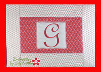 MONOGRAM PLACEMATS In The Hoop Machine Embroidery Design Home Decor.  - Digital File
