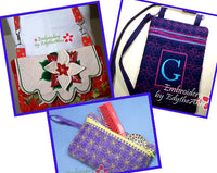 PURSE BUNDLE ALL IN THE HOOP  - Save 50% on Bundle- Digital Downloads