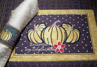 FALL/THANKSGIVING PLACE MAT  In The Hoop - INSTANT DOWNLOAD - Embroidery by EdytheAnne - 3