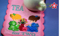 TEA FOR TWO MUG MAT Available in two sizes. INSTANT DOWNLOAD