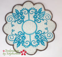 OH SO GRACEFULLY ELEGANT TRIVET In The Hoop Embroidery Project -DIGITAL DOWNLOAD