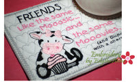 FRIENDS LIKE THE SAME MOOOSIC Mug Mat/Mug Rug.Instant Download