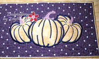 FALL/THANKSGIVING PLACE MAT  In The Hoop - INSTANT DOWNLOAD - Embroidery by EdytheAnne - 4