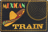 MEXICAN TRAIN GAME In The Hoop Embroidered Mug Mat.   - Digital File - Instant Download - Embroidery by EdytheAnne - 4