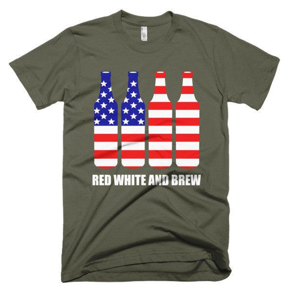 Red White and Brew - Short sleeve men's t-shirt