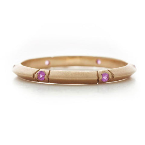 Bevel Pink Sapphire Band