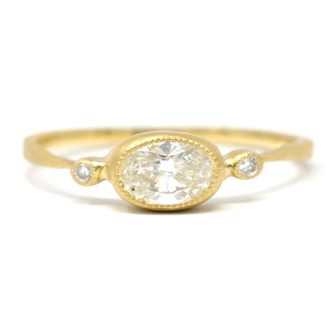 The Stars Aligned Dainty Oval Ring