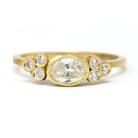 Blockette Dainty Oval Cluster Ring