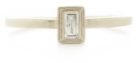 Blockette Diamond Baguette Ring Small