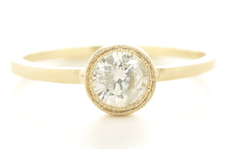 Blockette Round Solitaire Ring