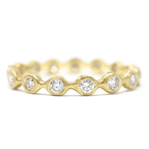 Dewdrop Medium Full Cut Diamond Band