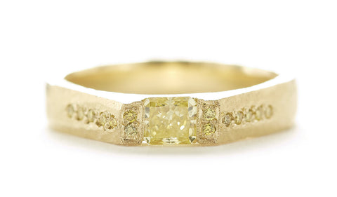 Etruscan Canary Diamond Ring