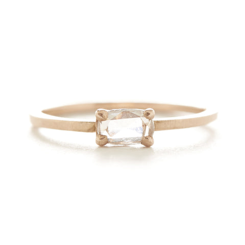 Stacking Oval Medium Horizontal Diamond Ring