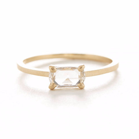 Oval East-West Diamond Ring
