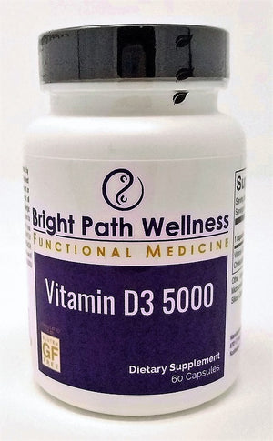 Vitamin D3 5000 by Bright Path Wellness - Gluten Free, Vegan
