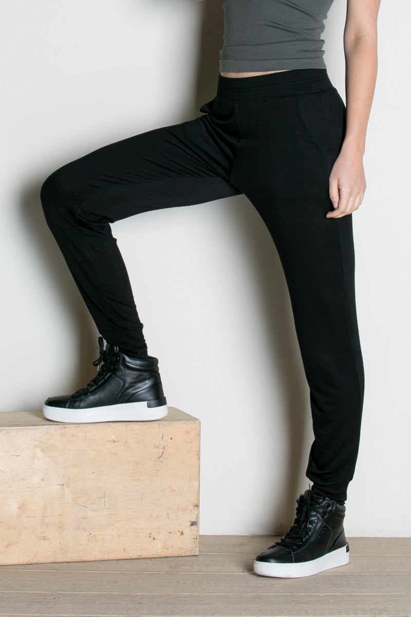 Lightweight Black Jogger Pants - Jogger Pants - My Yuccie - 1