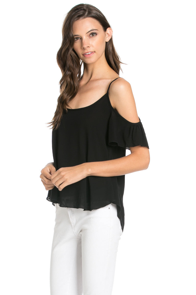 Flowy Mint Cold Shoulder Top - Shirts - My Yuccie - 6