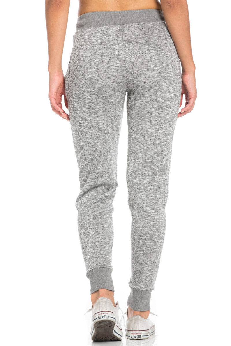 Heather Grey Banded Speckled Jogger Pants - Jogger Pants - My Yuccie - 4