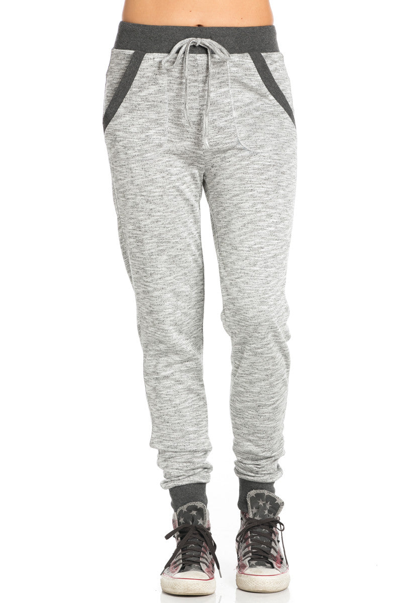 Heather Grey Banded Speckled Jogger Pants - Jogger Pants - My Yuccie - 8
