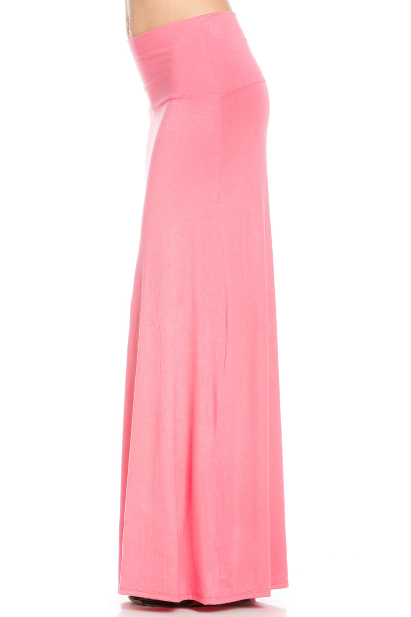 Fold Over Two-Way Maxi Skirt Coral - Skirts - My Yuccie - 3