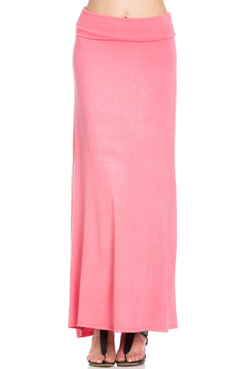 Fold Over Two-Way Maxi Skirt Coral - Skirts - My Yuccie - 6