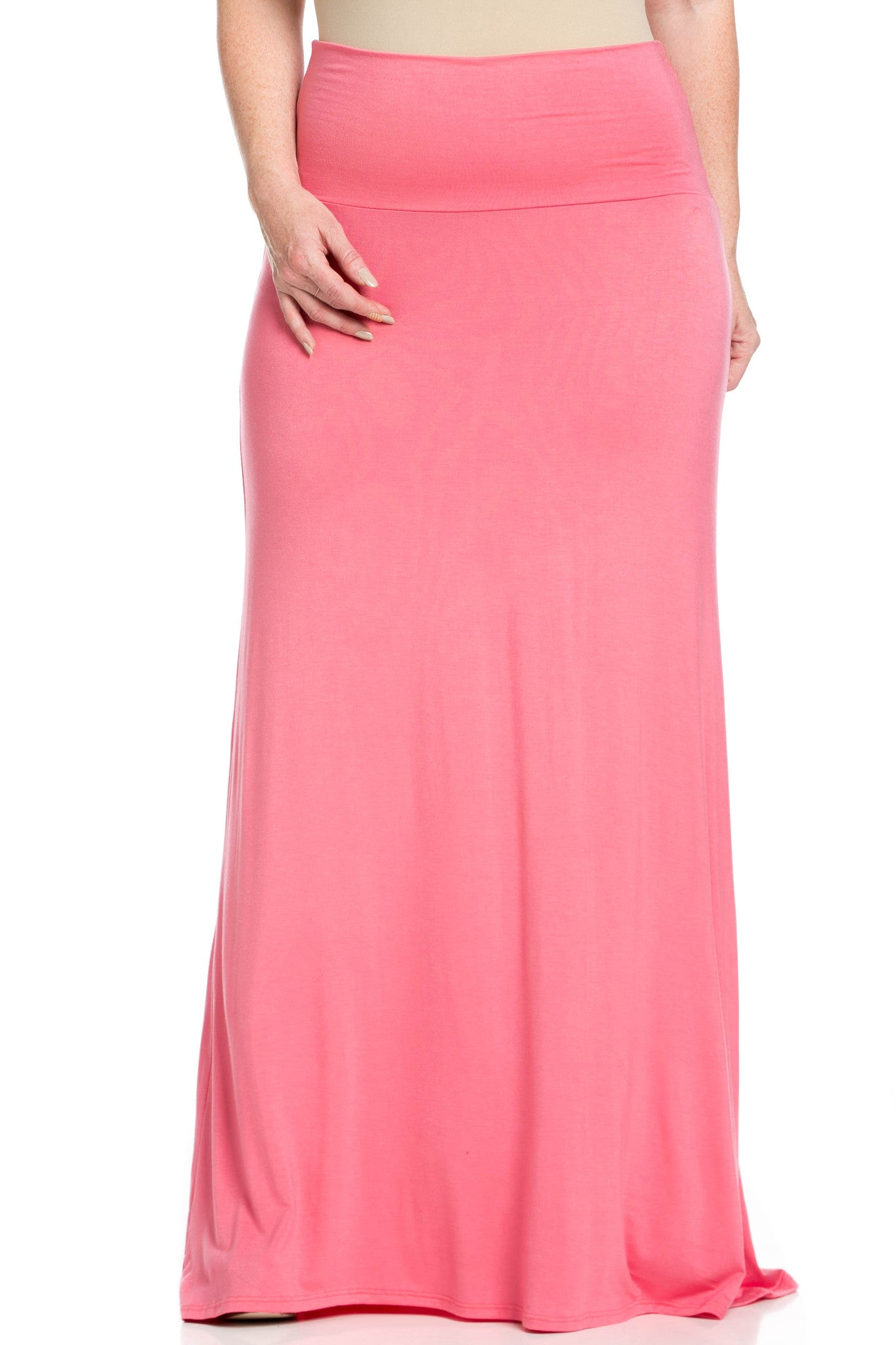 Fold Over Two-Way Maxi Skirt Coral - Skirts - My Yuccie - 8
