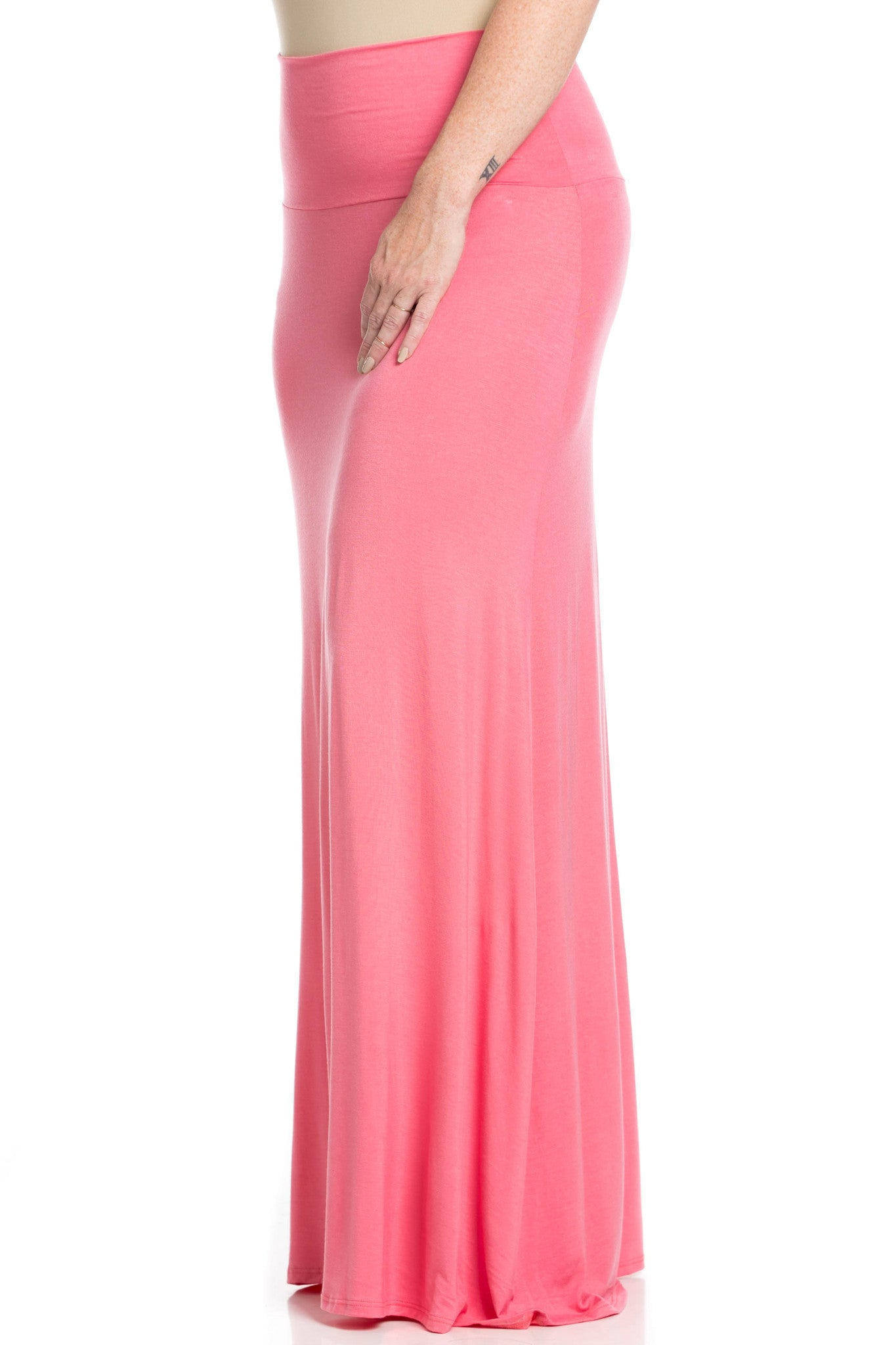 Fold Over Two-Way Maxi Skirt Coral - Skirts - My Yuccie - 9