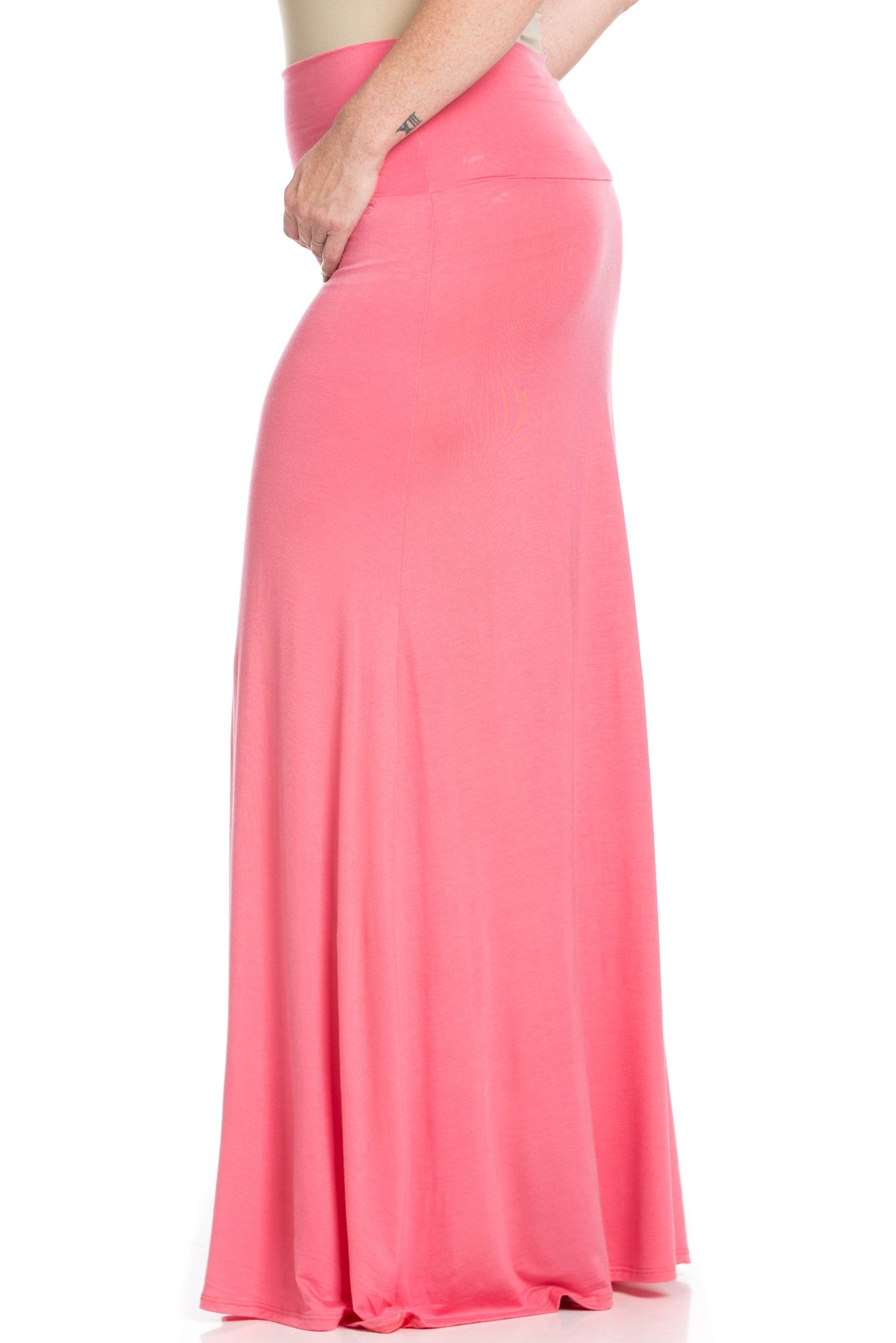 Fold Over Two-Way Maxi Skirt Coral - Skirts - My Yuccie - 10