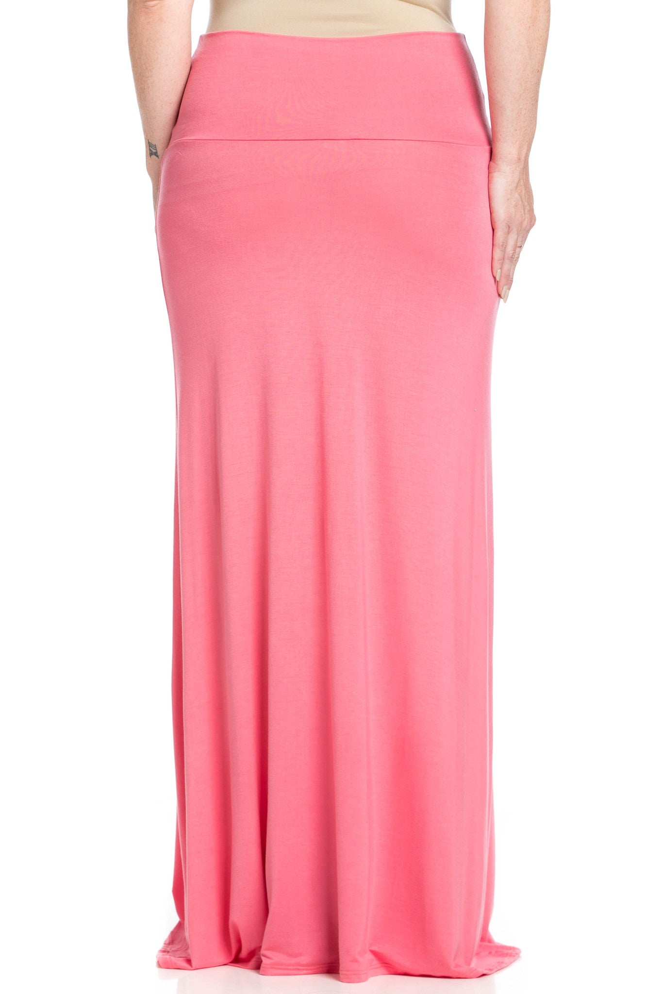 Fold Over Two-Way Maxi Skirt Coral - Skirts - My Yuccie - 11