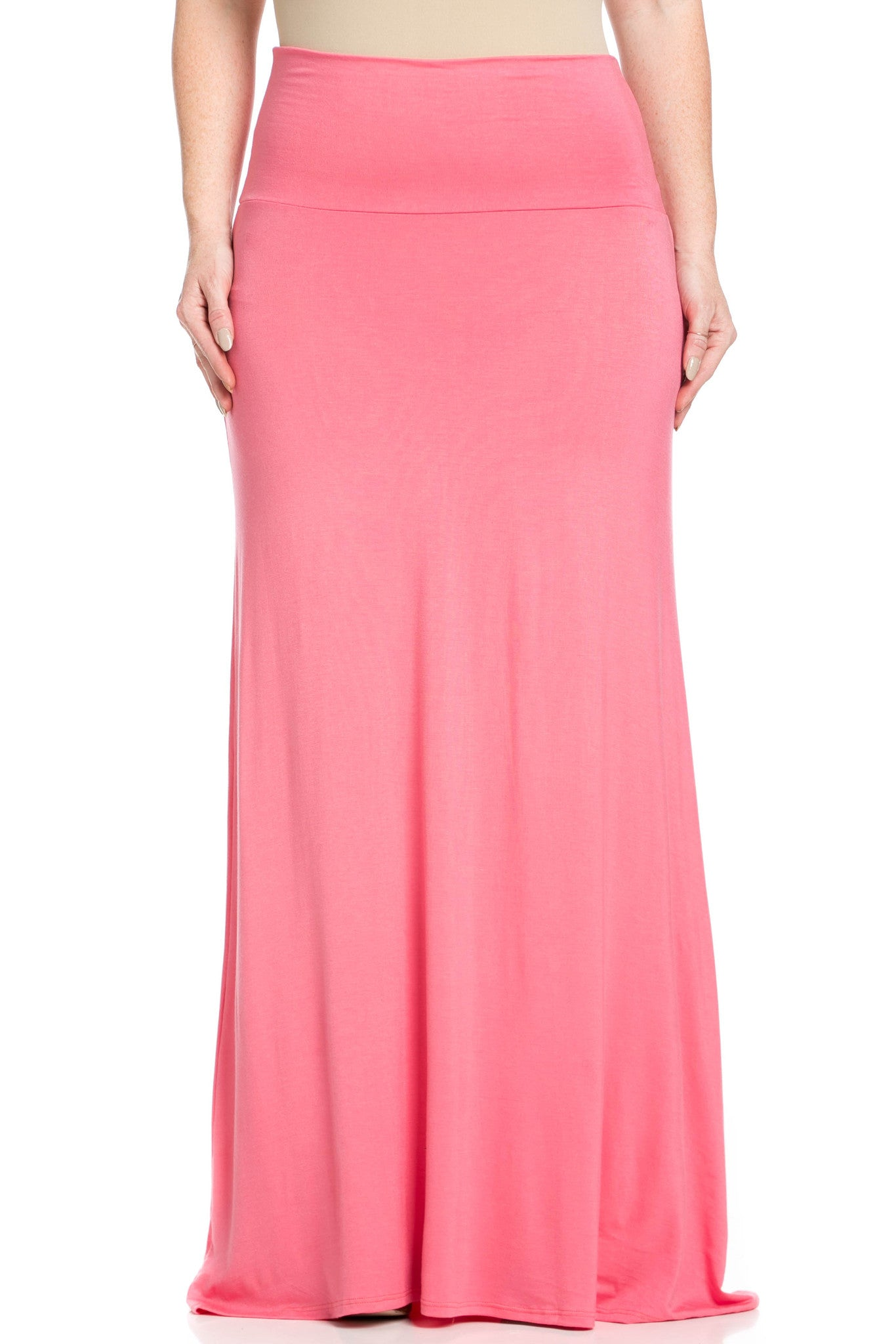 Fold Over Two-Way Maxi Skirt Coral - Skirts - My Yuccie - 12