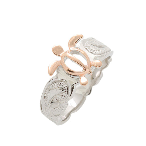 Silver and Rose Turtle Toe Ring.