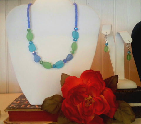 Colors of the Sea - Sea Glass Necklace