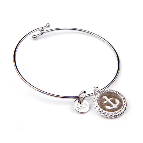 Beach Bangle Anchor Bracelet