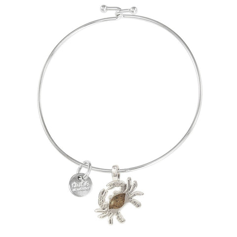 Beach Bangle Crab Bracelet