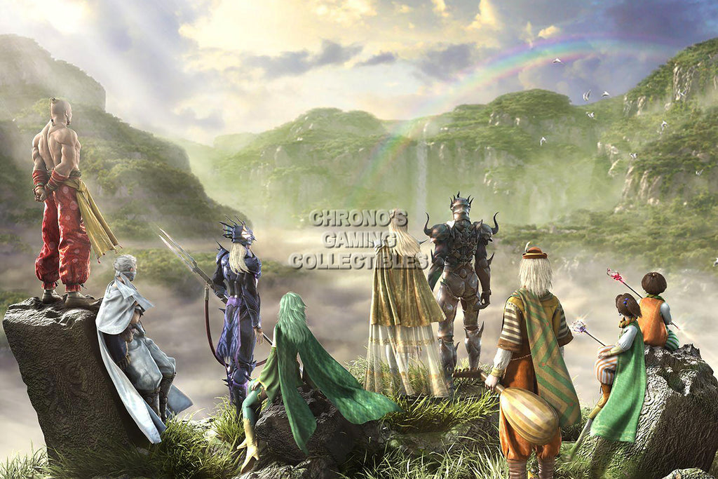 CGC Huge Poster - Final Fantasy IV All Characters PS1 PS2 PSP Nintendo DS GBA - FIV008