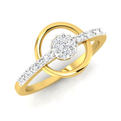 diamond studded gold jewellery - Flora Cluster Ring - Pristine Fire - 1