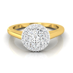 diamond studded gold jewellery - Parthena Cluster Ring - Pristine Fire - 2