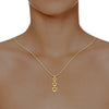 diamond studded gold jewellery - Natalia Casual Pendant - Pristine Fire - 4