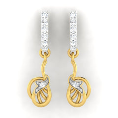 diamond studded gold jewellery - Adora	 Bali Earring - Pristine Fire - 2