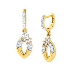 diamond studded gold jewellery - Anya Bali Earrings - Pristine Fire - 1