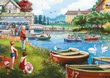 The Boating Lake - Falcon de Luxe 1000 Piece Jigsaw Puzzle