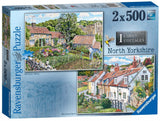 Cosy Cottages - North Yorkshire, 2 x 500 Piece Jigsaw Puzzle