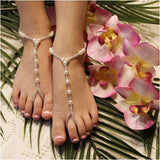 pearl toddler barefoot sandals | toddler foot jewelry pearls