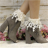 ivory socks for booties - trendy